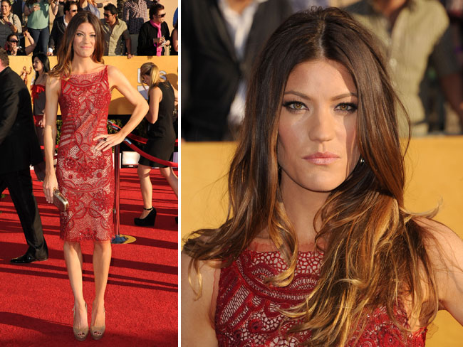 Jennifer Carpenter looking for someone...I mean something to eat. Very fierce looking.