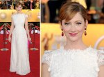 Hooray! Judy Greer in a Collette Dinnagin outfit.