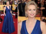 Jane Lynch from Glee - fantastic dress. Terrific colour and a great cut for a tall lady.