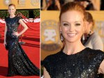 Jayma Mays - this looks lovely. This shoulder line was a popular style.