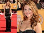 Maria Menounous - tv presenter - this dress looks like a tight fitting cami...another thin strap number.