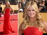 Nancy O'Dell from Entertainment Tonight. Any excuse to dress up I suppose :). Classic style.
