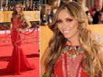 Guiliana Rancic - tv presenter. That's strike two lady - the Globes and now...maybe needed the hair up.