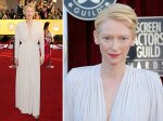Tilda Swinton - this is two good outfits in a row. Fab.