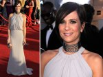 Kristen Wiig - not sure about the choker with the neckline of the outfit.
